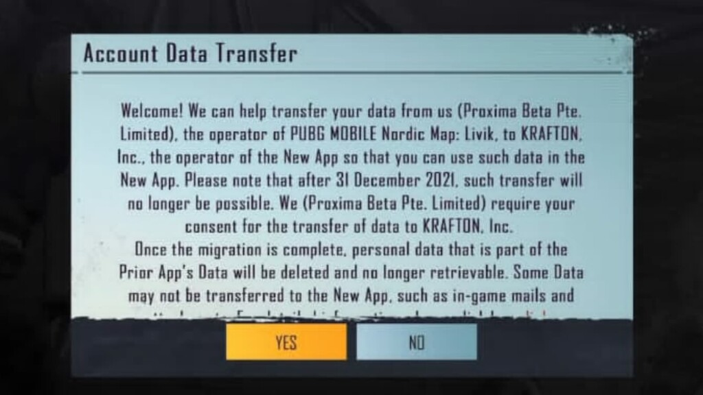 How to transfer player data from PUBG Mobile to BGMI in iOS devices?