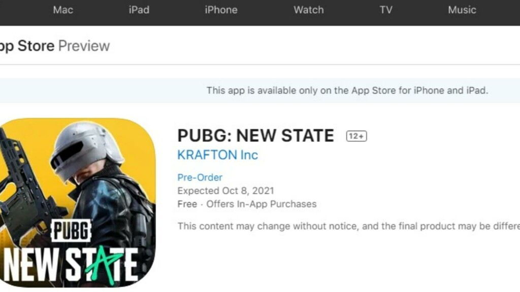 PUBG New State: Pre-registrations for iOS devices are now live