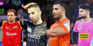 defenders in Pro Kabaddi League
