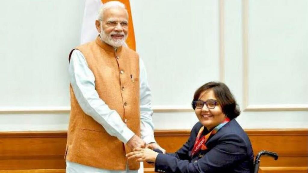 Ekta Bhyan with PM Modi
