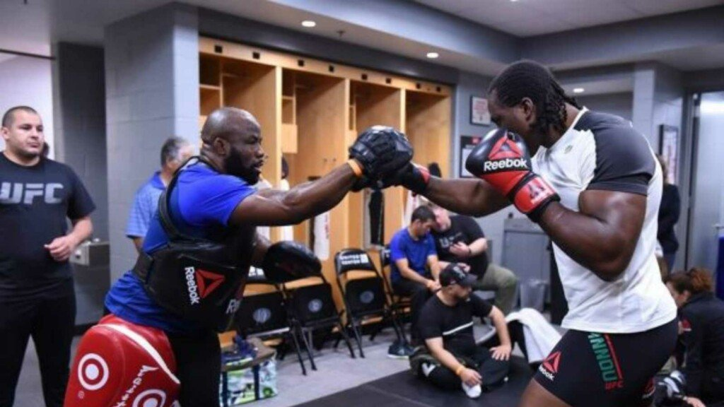 Francis Ngannou and Fernand Lopez coach