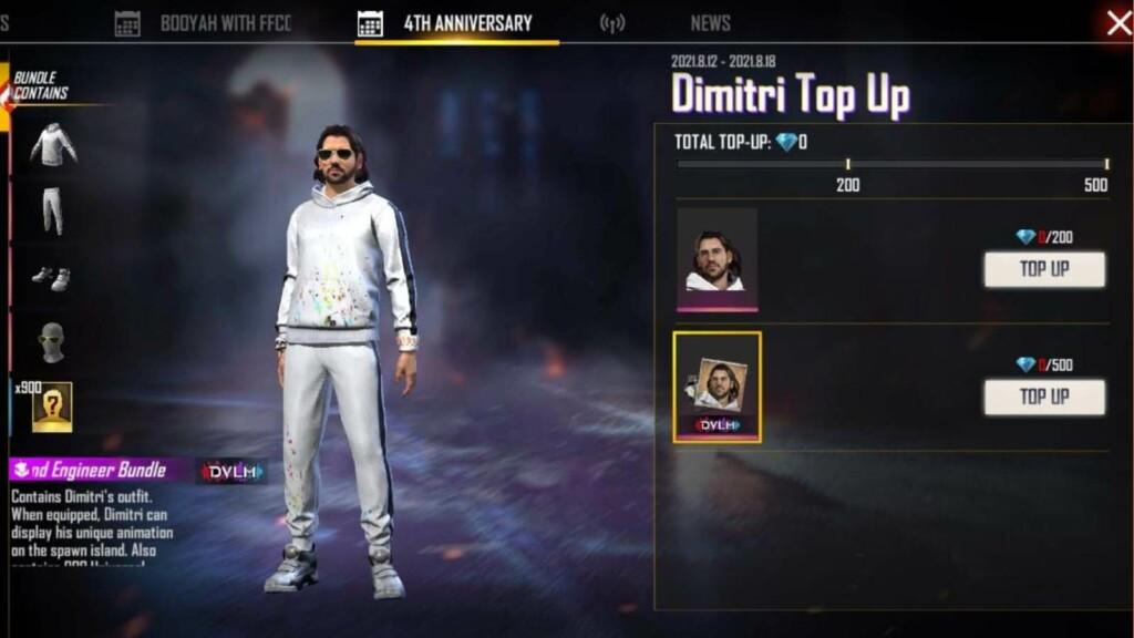 Free Fire Dimitri Topup