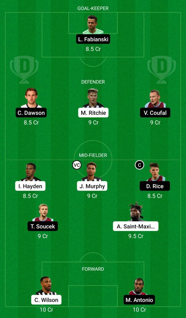 Premier League: Newcastle United vs West Ham United Dream11 Prediction, Playing XI, Teams, Preview, and Top Fantasy picks