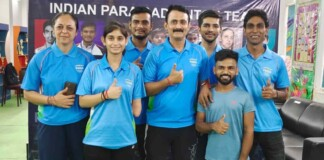 Indian badminton contingent for Tokyo Paralympic Games