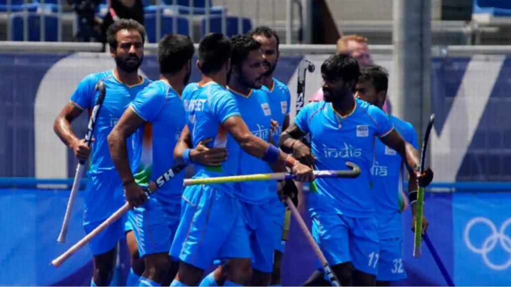 Indian men's hockey team at the Tokyo Olympics