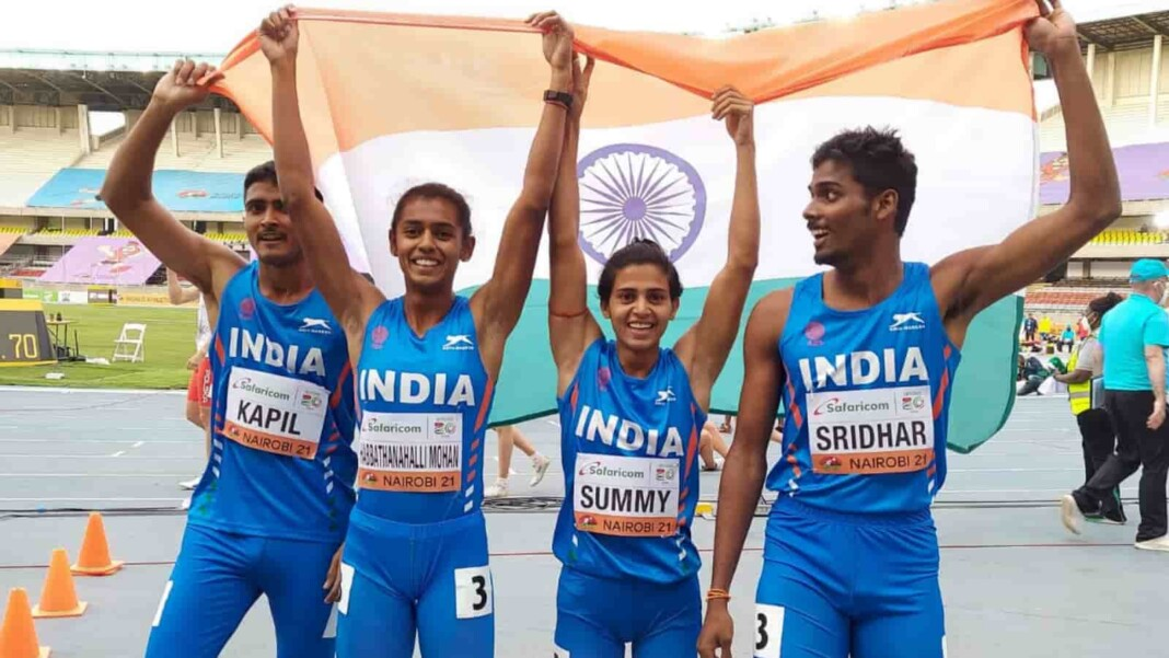 Indian mixed 4x400m relay team