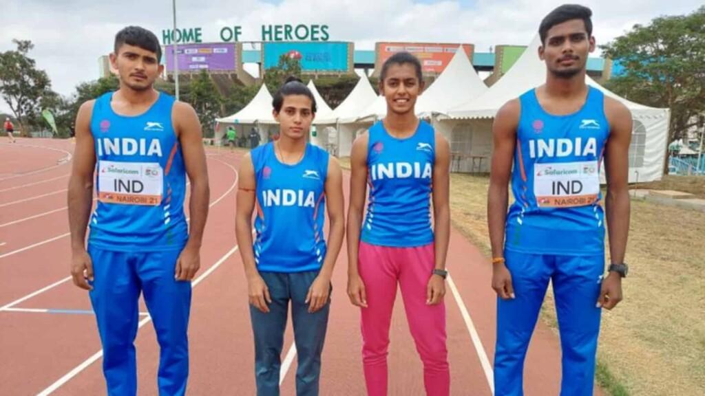 U20 Athletics World Championship: Indian mixed 4x400m relay team