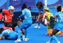 Indian women hockey team at Tokyo Olympics