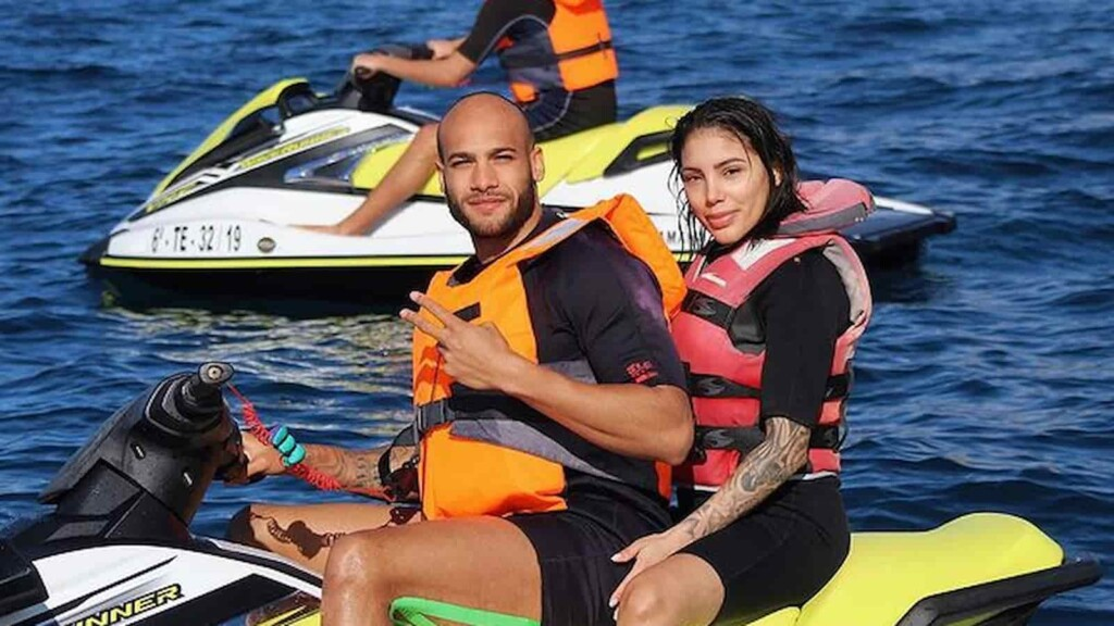 Lamont Marcell Jacobs and Nicole Daza
