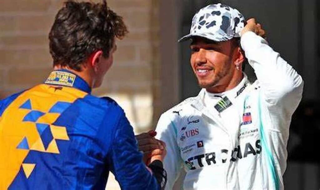 Lando Norris and Lewis Hamilton