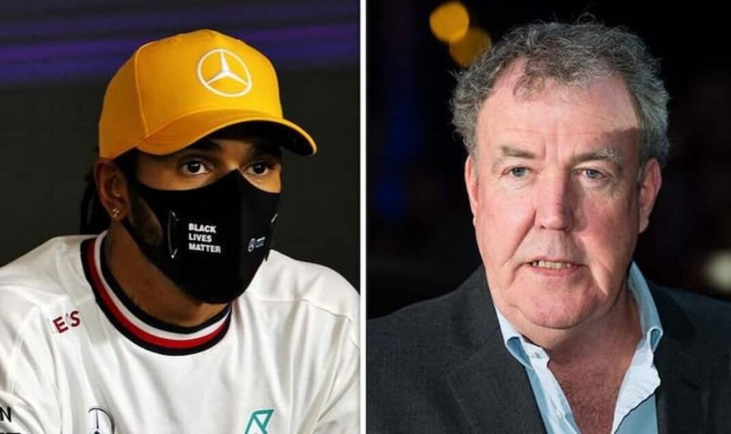 Lewis Hamilton and Jeremy Clarkson