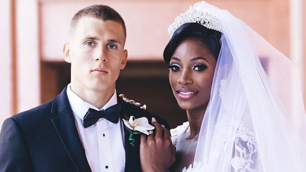 Maicel Uibo and Shaunae Miller-Uibo