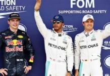 Max Verstappen, Lewis Hamilton and Nico Rosberg