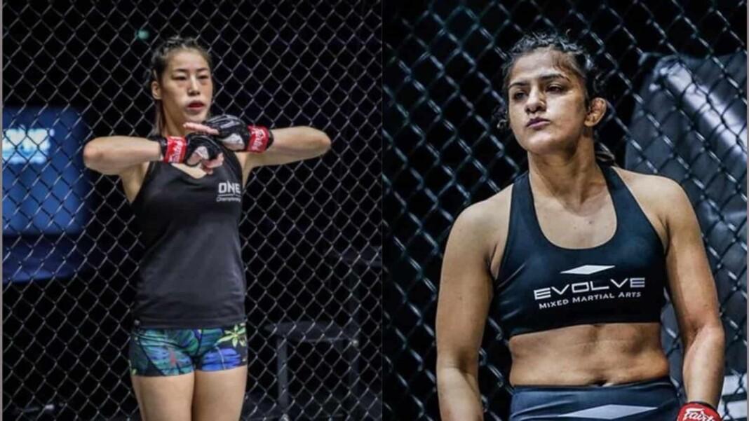 Meng Bo and Ritu Phogat