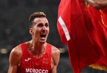 Men's 3000m steeplechase winner; Soufiane Bakkali