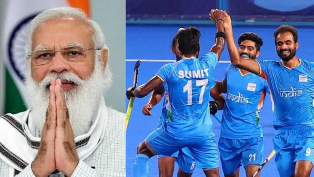 PM Modi congratulates the Indian men hockey team