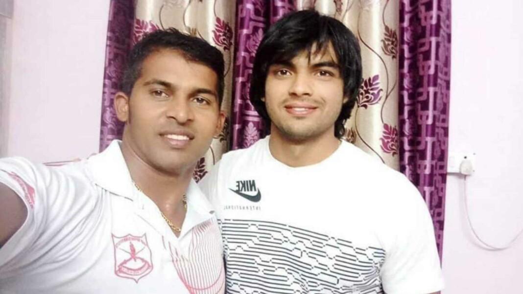 Neeraj Chopra with Kashinath Naik