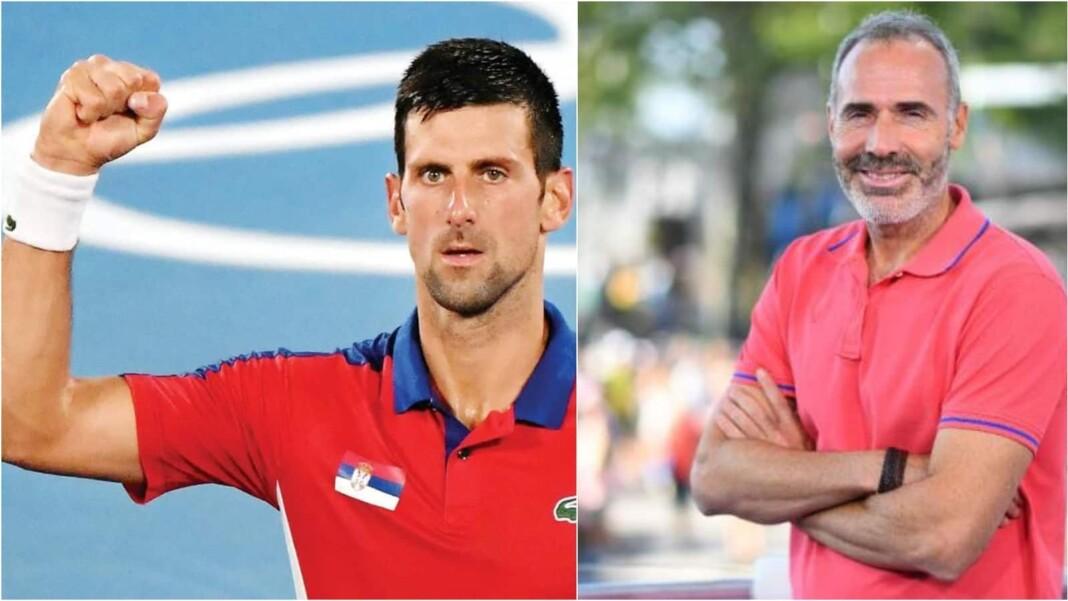 Novak Djokovic and Alex Corretja