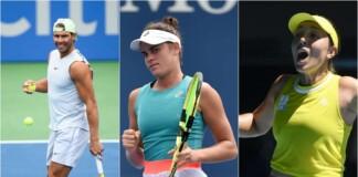 Rafael Nadal, Jennifer Brady and Jessica Pegula