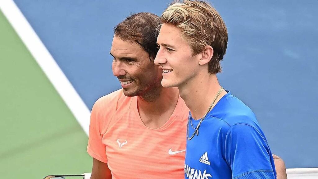 Rafael Nadal and Sebastian Korda