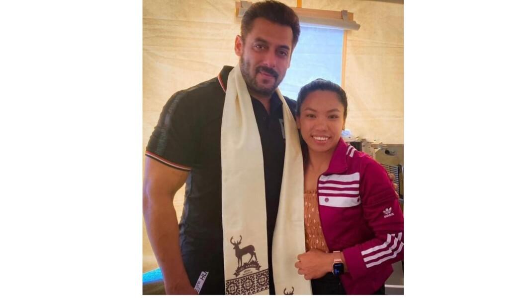 Salman Khan and Mirabai Chanu