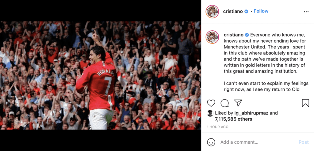 Cristiano Ronaldo pens down heartfelt letter for fans after signing his  contract with Manchester United » FirstSportz