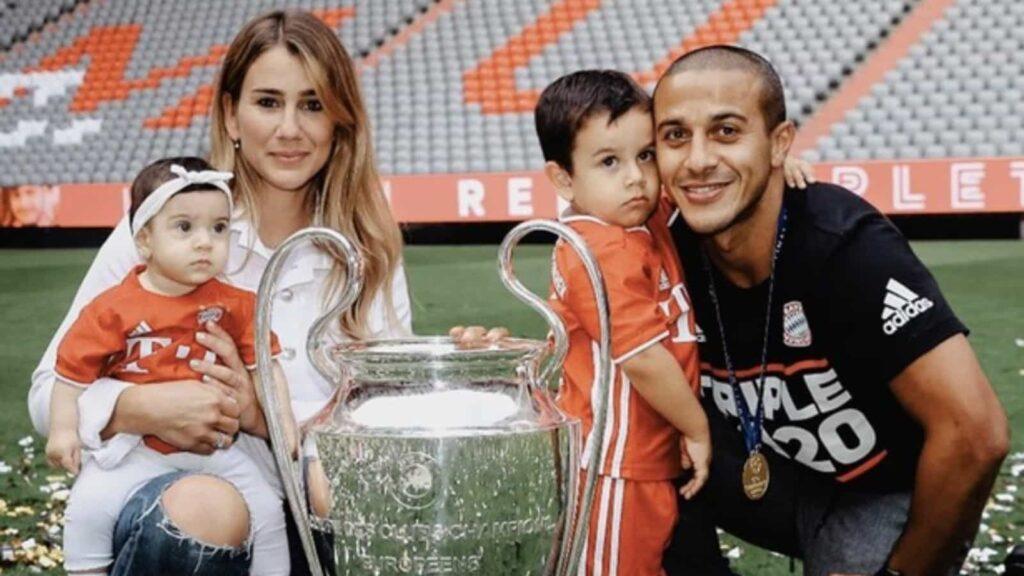 Thiago Alcantara wife and family - FirstSportz