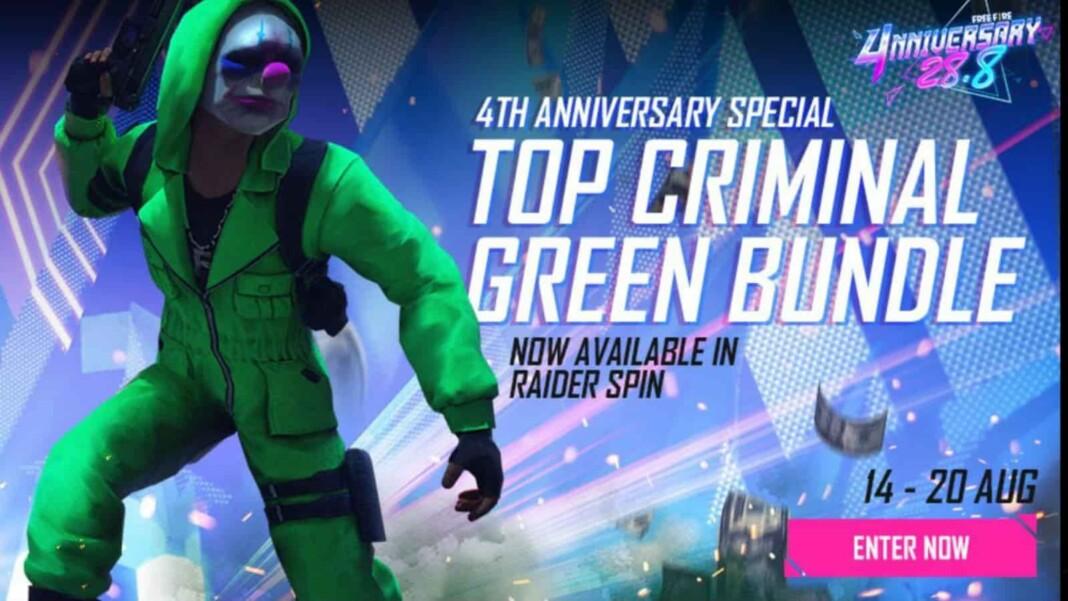 Top Criminal Green Bundle in Free Fire