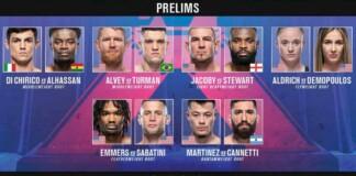 UFC Vegas 35 Prelims Results