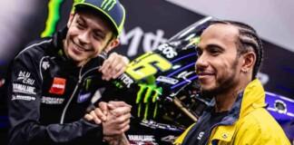 Valentino Rossi and Lewis Hamilton