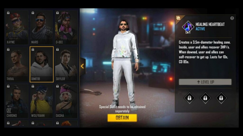 Dimitri New Characters In Free Fire
