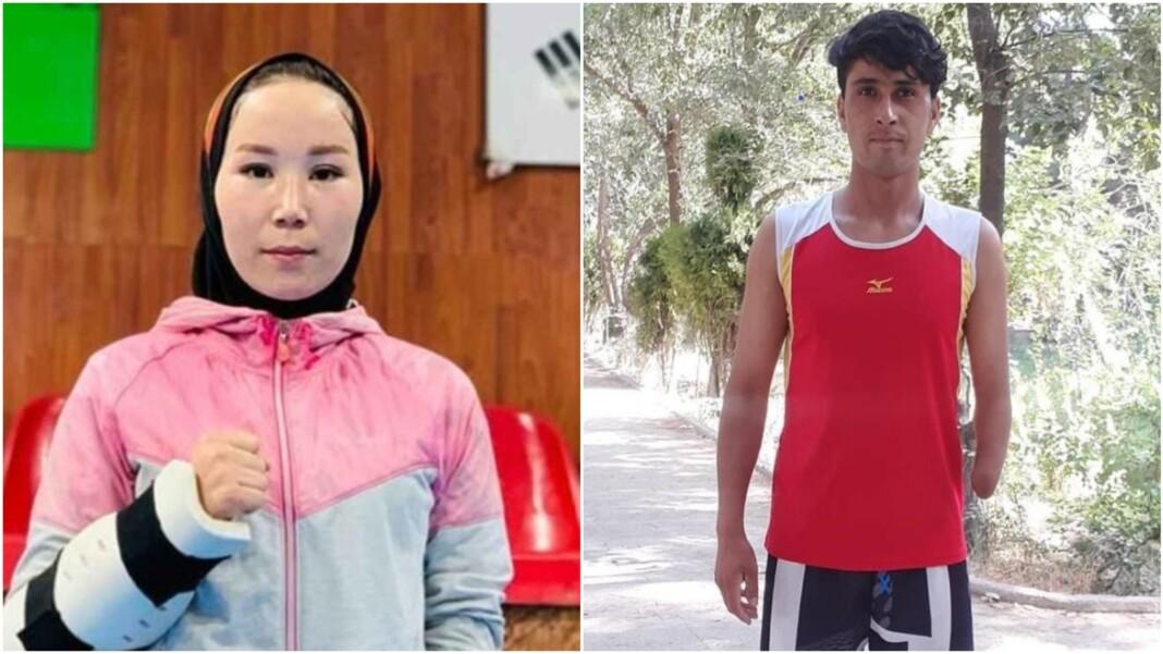 Taekwondo athlete Zakia Khudadadi and Afghan track athlete Hossain Rasouli
