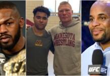 Jon Jones, Gable Steveson, Brock Lesnar and Daniel Cormier