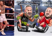 Conor McGregor wheelchair boxing match