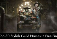 Stylish Guild Names In Free Fire