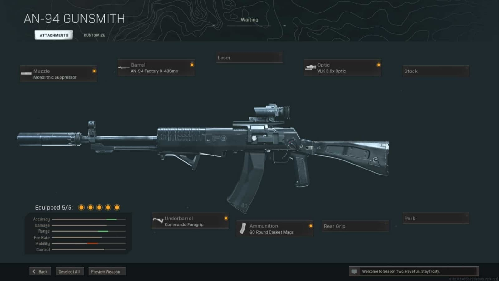 The Best AN-94 Warzone Loadout with Details