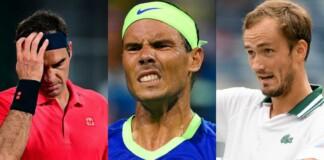 Roger Federer, Rafael Nadal, Daniil Medvedev