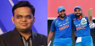 Jay Shah and Rohit Sharma & Virat Kohli