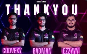 Enigma Gaming releases BadmaN, Ezzyyy, and Godvexy