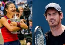 Emma Raducanu and Andy Murray