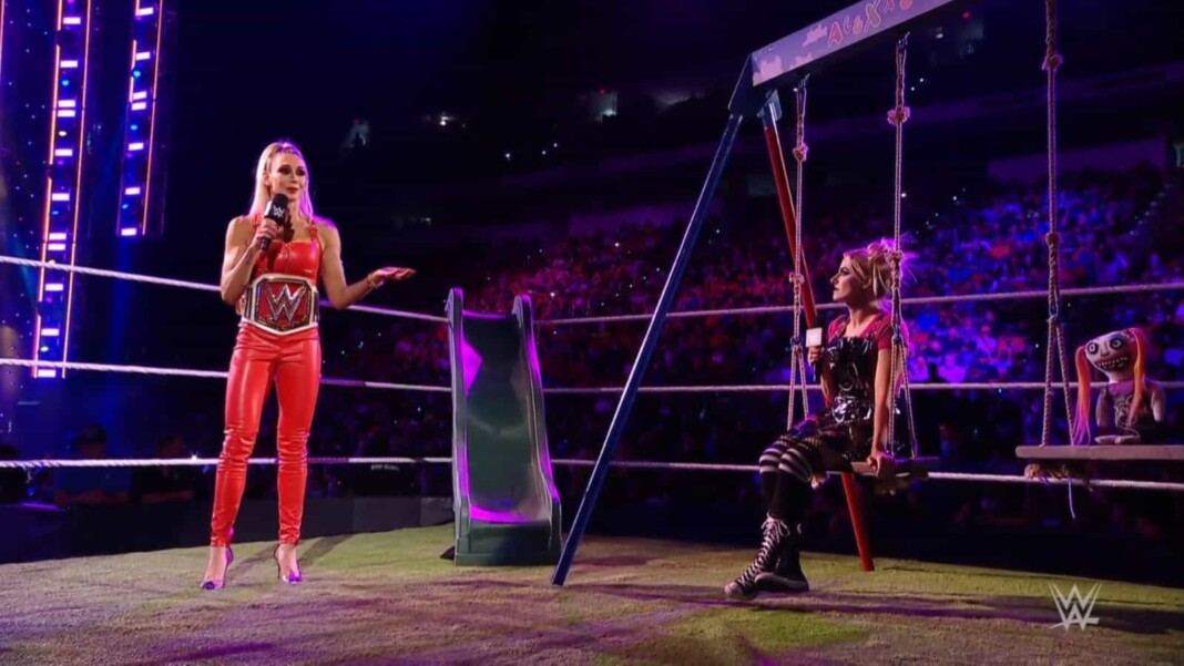 Alexa Bliss and Charlotte Flair engage in a heated war of words at WWE Raw