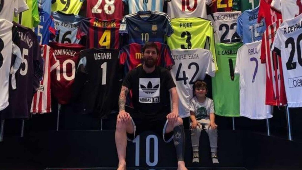 Lionel Messi's Jersey collection