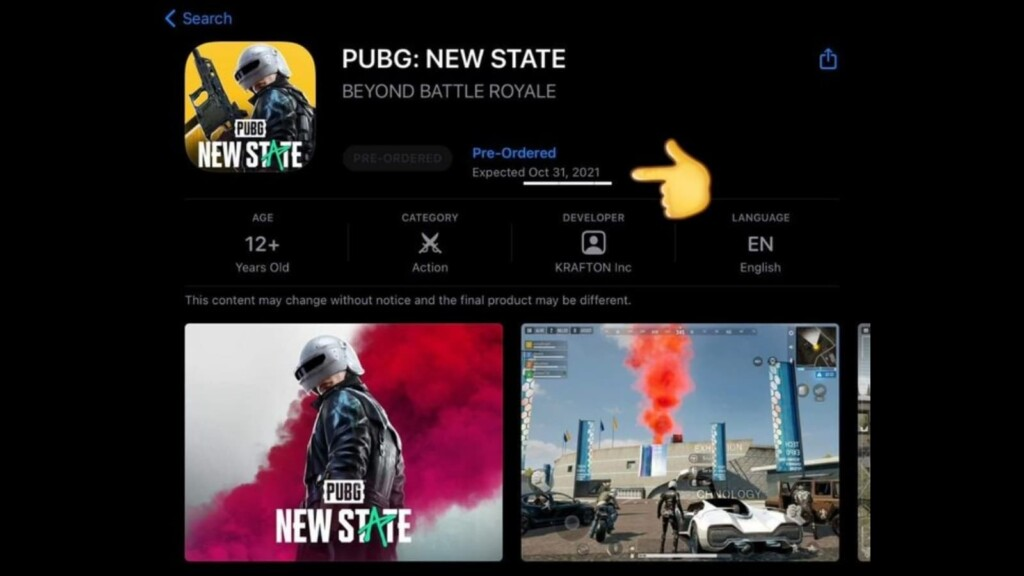 PUBG New State release delayed, as per App Store