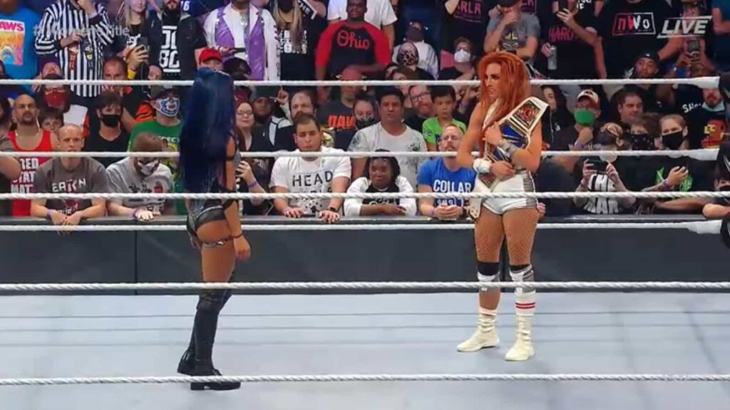 Sasha Banks attacked Bianca Belair and Becky Lynch at extreme rules