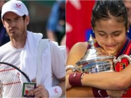Andy Murray and Emma Raducanu