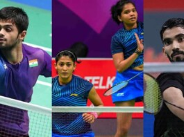 B Sai Praneeth, Kadambi Srikanth, Ashwini Ponnappa and N Sikki Reddy