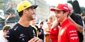 Charles Leclerc and Daniel Ricciardo