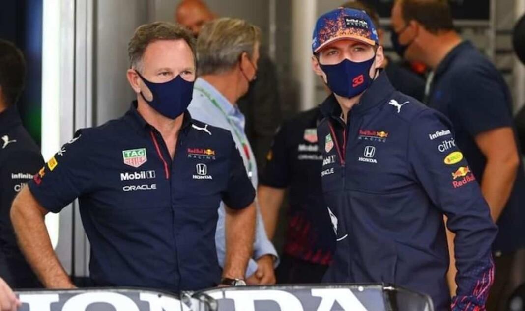Christian Horner and Max Verstappen
