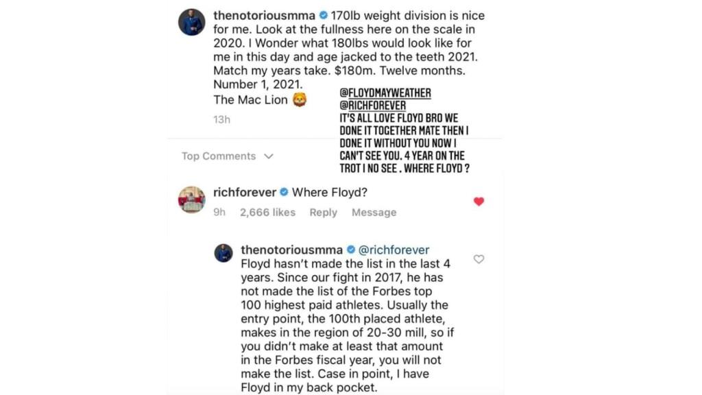 Conor McGregor's Post