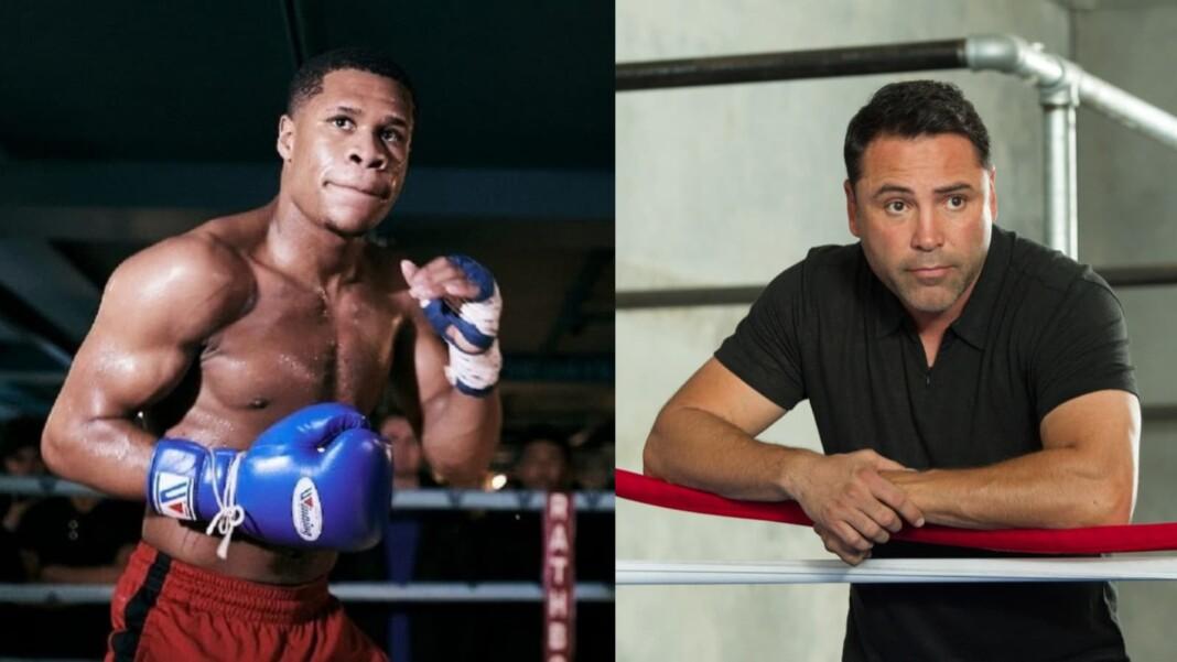 Devin Haney and Oscar De La Hoya